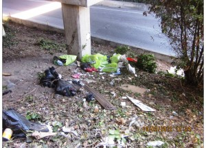 Homeless Camp Under Hwy 101 Near Grand Avenue