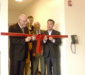 SSF Mayor Rich Garbarino, along with other councilmembers and CA Senator Yee during the Ribbon Cutting Ceremony