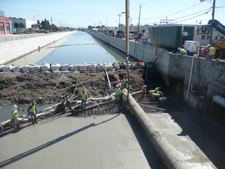 Colma Creek Flood Control Project has been completed