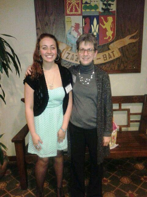 Boys & Girls Clubs of North San Mateo County Executive Director, Sharon Dolan, with 2013 Youth of the Year Brittany Burgo