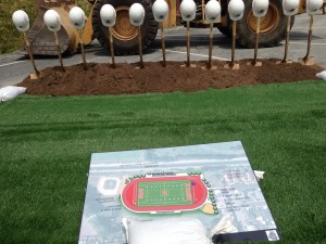 The stadium plans were presented for all to see. Photo Angelique Presidente