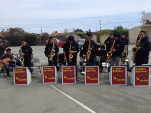 The El Camino Jazz Ensemble played at the Groundbreaking ceremony