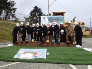 School boardmembers along with other dignitaries join in on the groundbreaking Photo Angelique Presidente