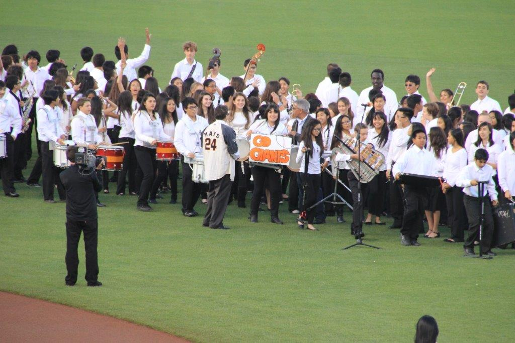 Our students played the National Anthem at the start of the Giants vs Phillies Game May 7th Photo Tim Hopkins