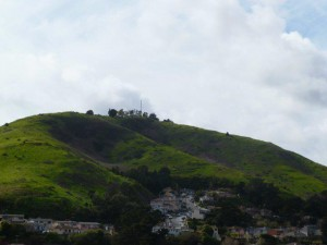 The lush northern slope is owned by potential developers.