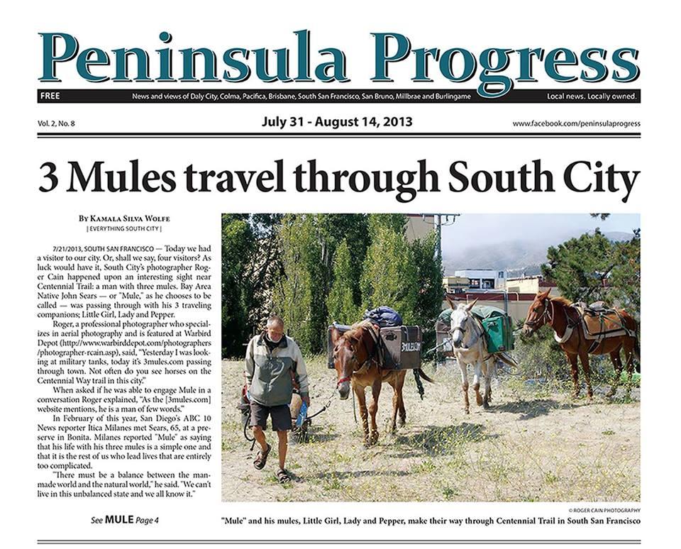 3 Mules Pen Progress Front Page