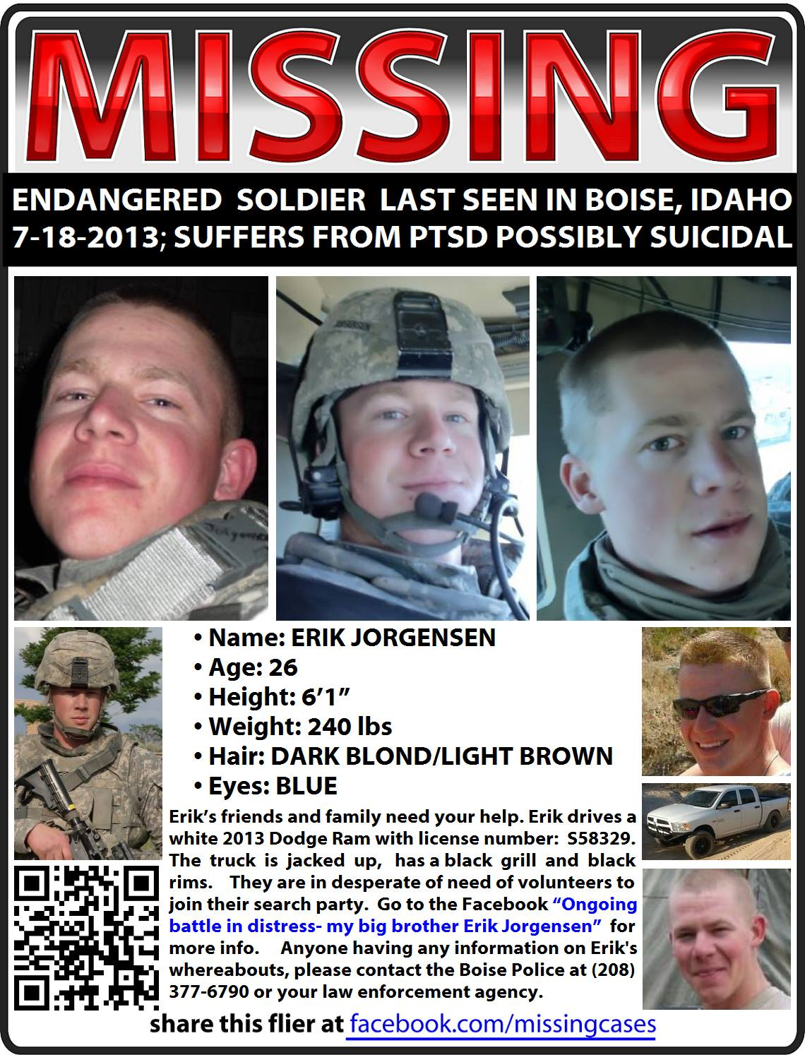 ERIK JORGENSEN missing