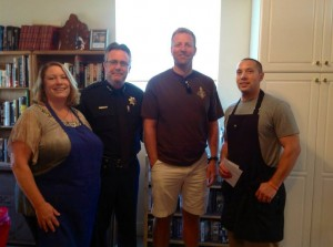 Thank you to SBPD Chief Neil Telford and Lt. Caldwell for their support