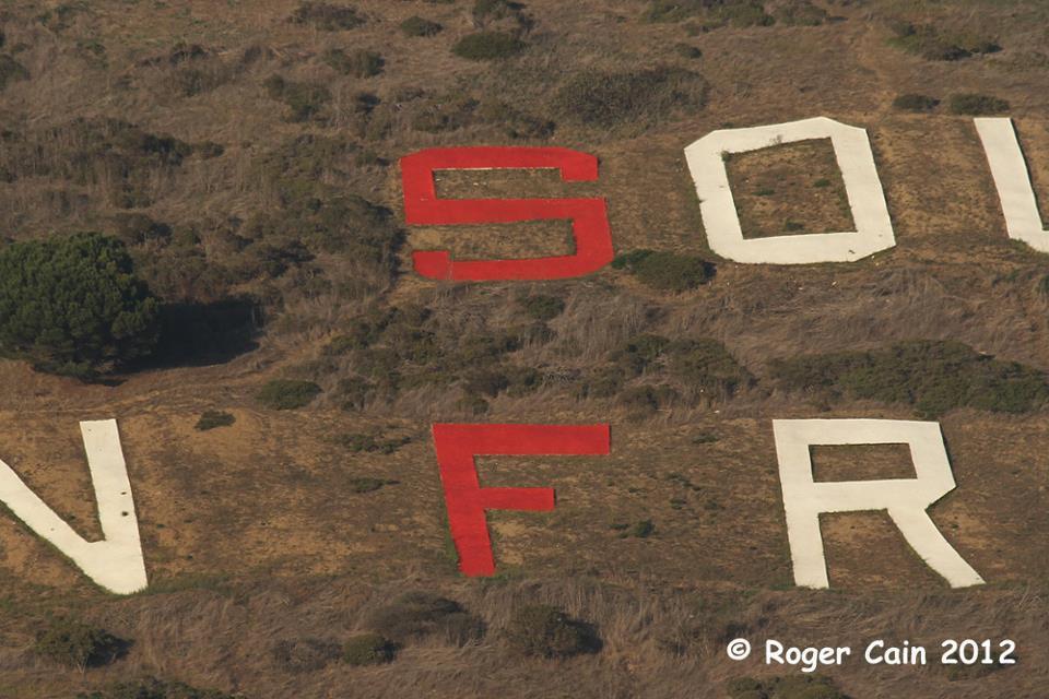 49er Red letters Sign Hill