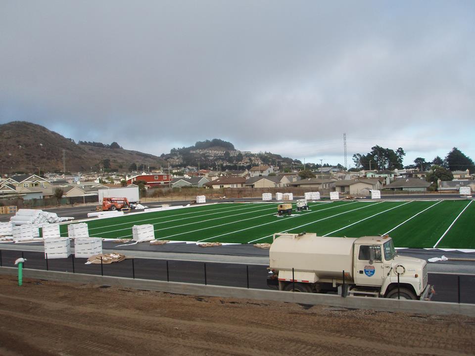El Camino High School Field Update August 2013 Photo: Coach Jake