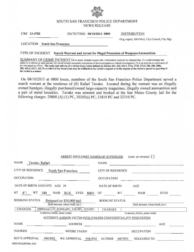 SSFPD Search Warrant Arrest-page-001