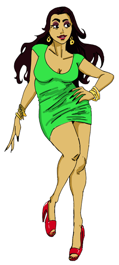 MAMA GUZMAN (GUADALUPE) A sassy and sexy mom that holds the family together. She will defend her family to no end, but knows how to also keep order in the house when necessary. She has a little bit of a she-devil in her, a lot of sas, and is street smart. She has at least one big skeleton in her closet though!