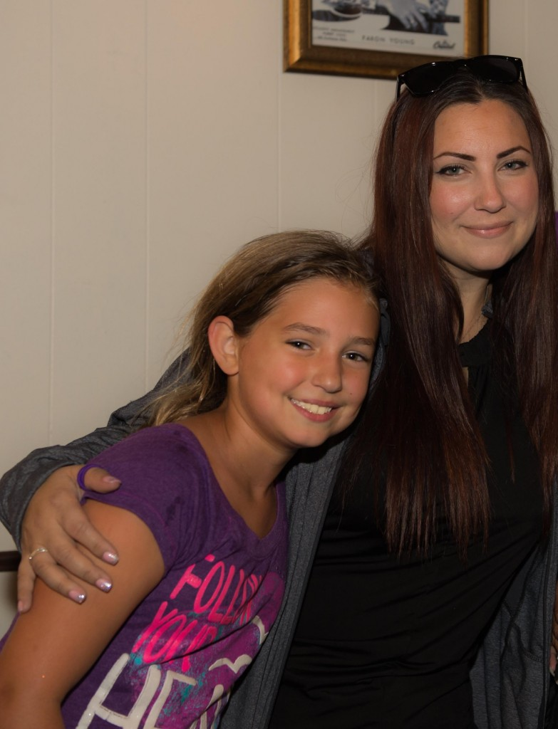 Artist Elena Clother and daughter Kylee