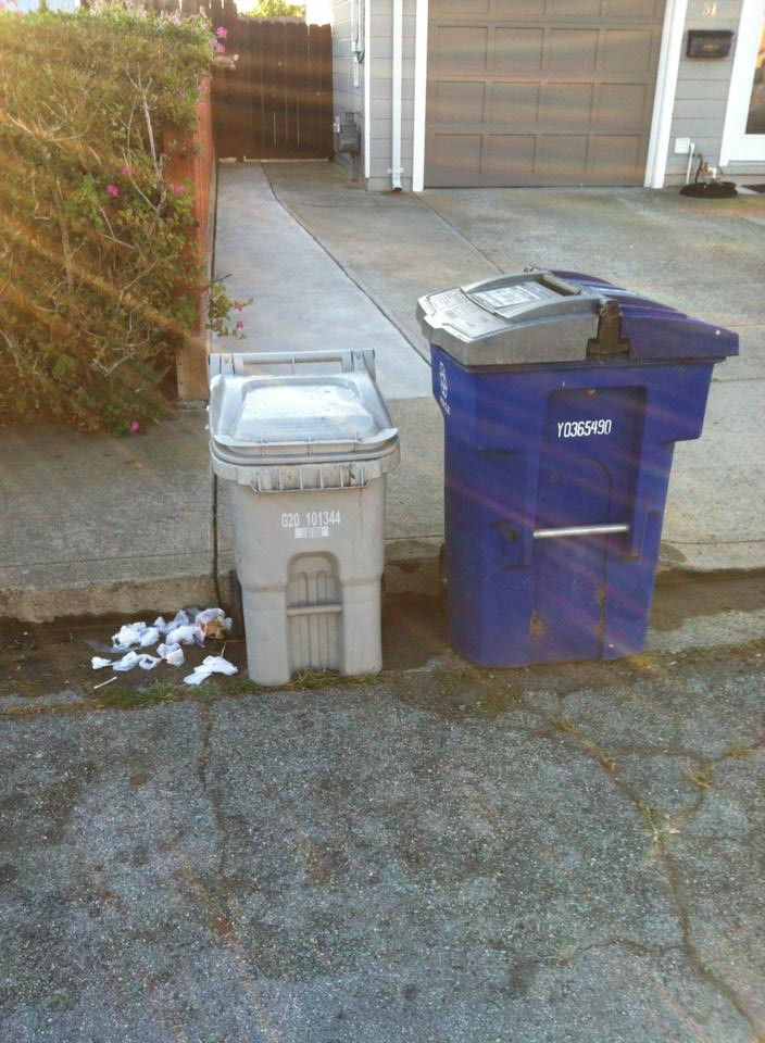 Who do you resolve the problem of garbage bins and parking with neighbors?  Photo: Jose Chavez