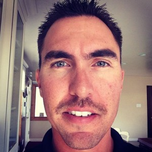 SSFD Captain Todd Rael on day 9 of his 'stache' grow