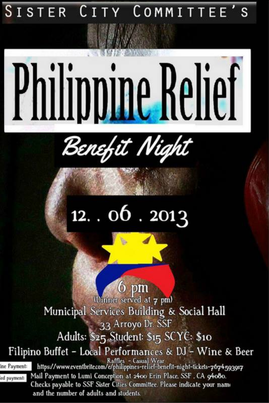 Philippine Relief Benefit Night
