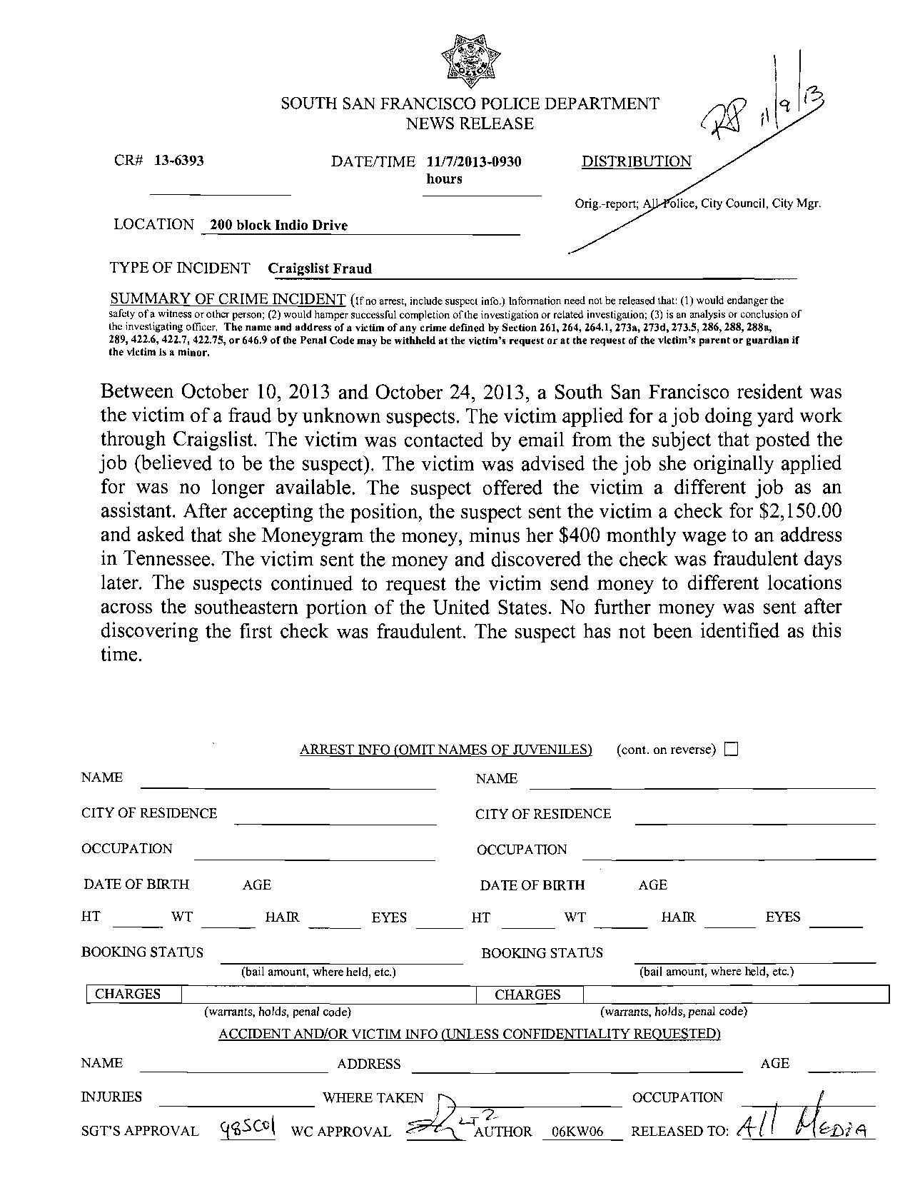 SSFPD 11.7.2013 Craiglist fraud-page-001