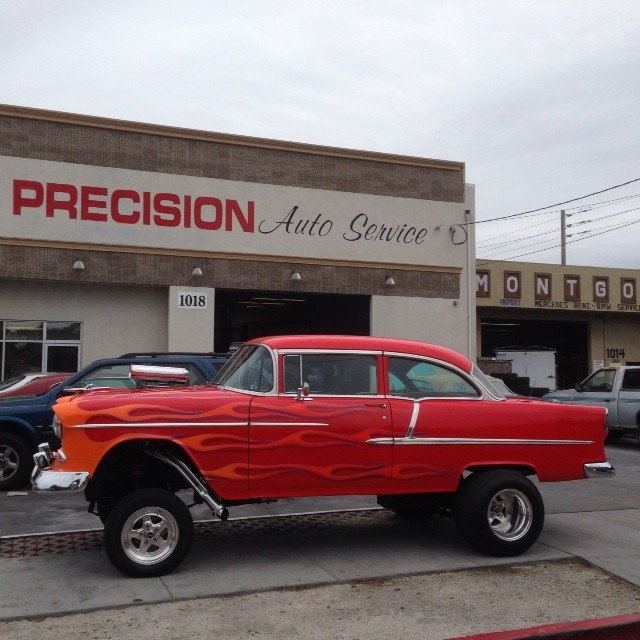 55 Chevy is treated with TLC Photo: Precision
