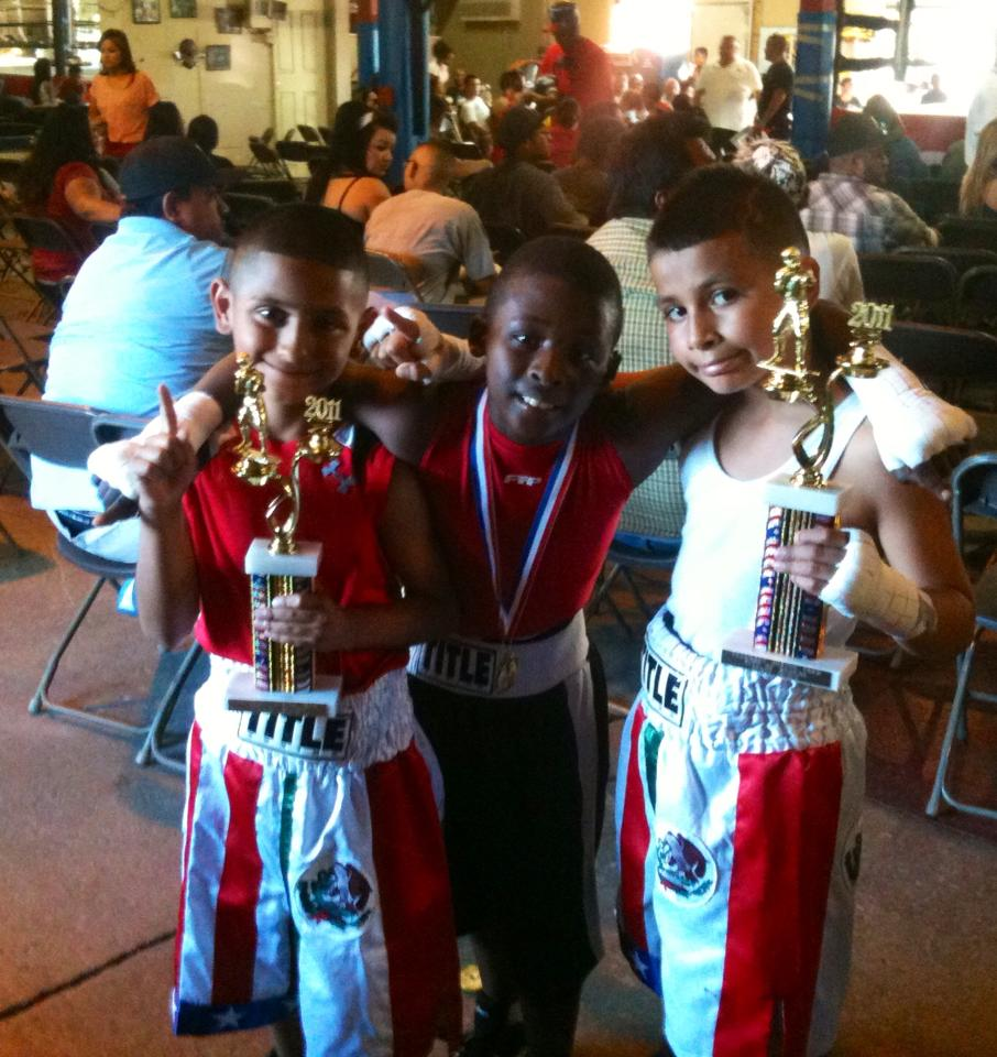 Some of the youth trained by Robert Fernandez