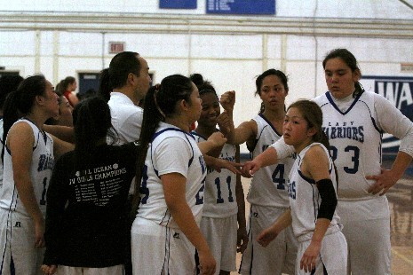 With League MVP Keanna Tofiga and Lindsey Eto (2nd team) returning as well as Charlene Halal and Reichel Vaioli the Warriors will look to go deeper into the playoffs in 2013-14  Photo: SSFUSD