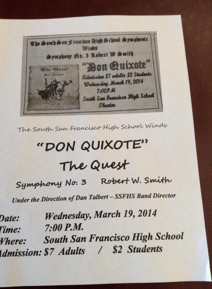 SSFHS Don Quixote Music 3.19.2014
