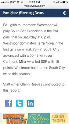 SSFHS Girls Basketball Rich Avila