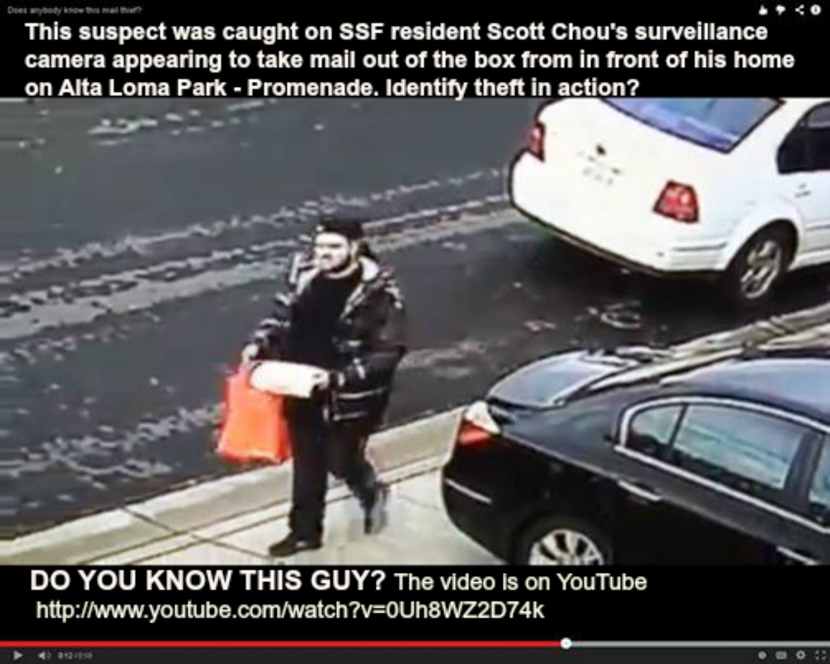 So you know this guy? He has been caught on camera taking mail out of boxes. Is this identity theft in the making?
