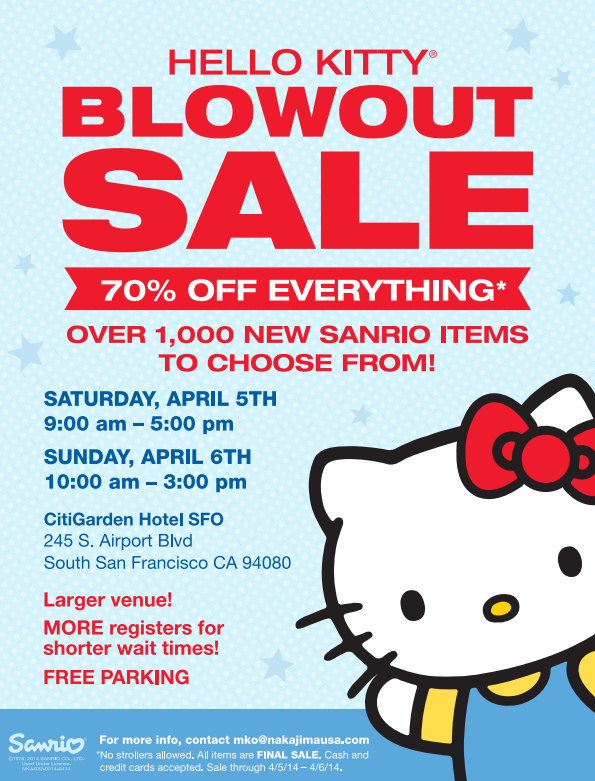 Hello Kitty blowout Sale