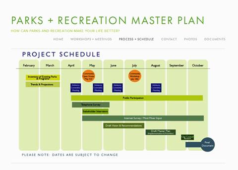 PR master plan project schedule 4.2014