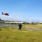 US Coast Guard preparing to land