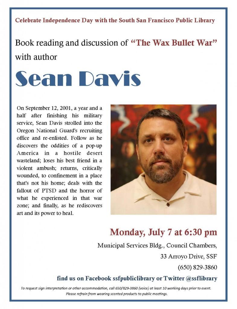Sean Davis Wounded Vet Wax Bullet