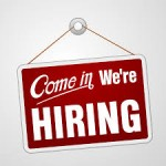 come in were hiring sign'
