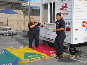 Fire Prevention Month 1 Fire trailer