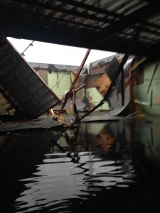 The roof on the building occupied by Bally's collapsed during last week's storm