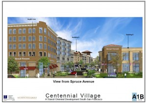 The Centennial Village will replace the Safeway Shopping Center on Spruce at El Camino