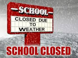 school closed due to weather