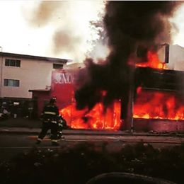A 2 alarm fire destroyed one of the local favorites Seniore Pizza at 992 El Camino Real
