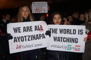 London Demo in Solidarity with Ayotzinapa 11.28.2014 Photo: dorset chiapas solidarity