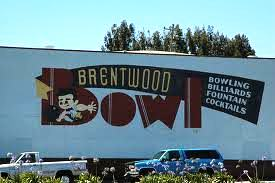 Brentwood Bowl old signage