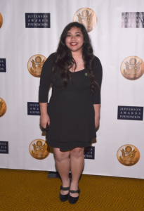 Patricia Manubay, a Senior at El Camino High School, won the Lead 360/ Jefferson Award in Education and Literacy