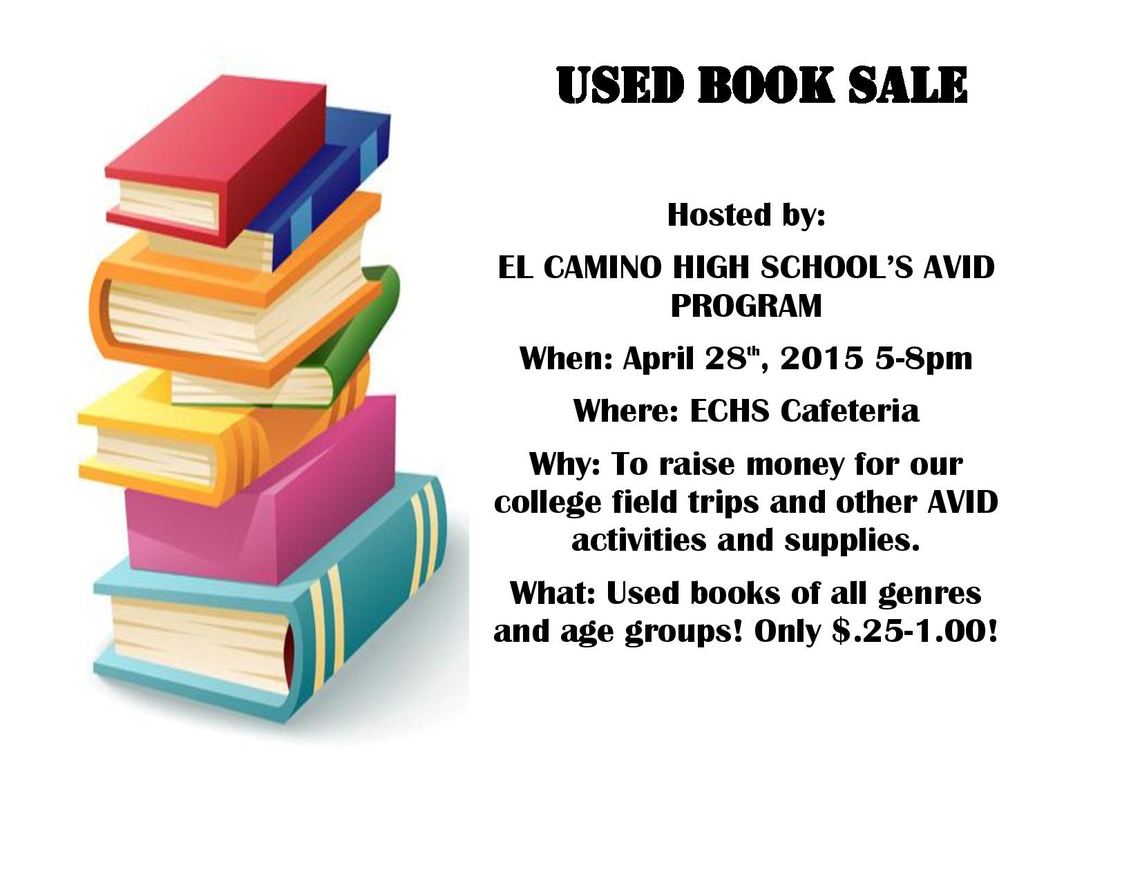 College Books For Sale >> El Camino High School Students Fund Raise For College Trips