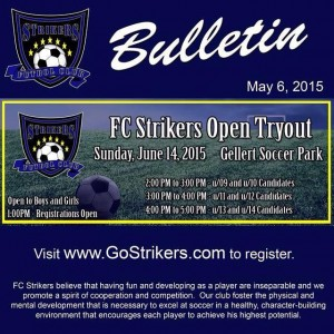 Strikers Youth Soccer Team 2015