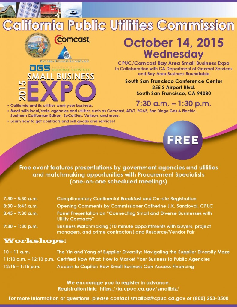 cpuc small business expo ssf event flyer 2015