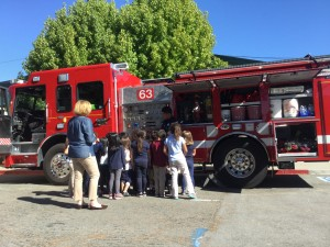 Kids are always excited to check out Fire Engines - it's a great teaching tool!