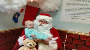 Santa's visit delighted all!