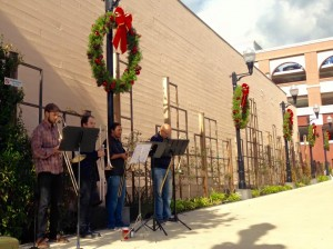 Holiday music fills the air on Grand Avenue Photo: Julie Chimenti
