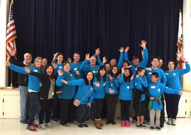 MLK Day Kaiser Los Cerritos School volunteers group