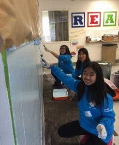MLK painting school office