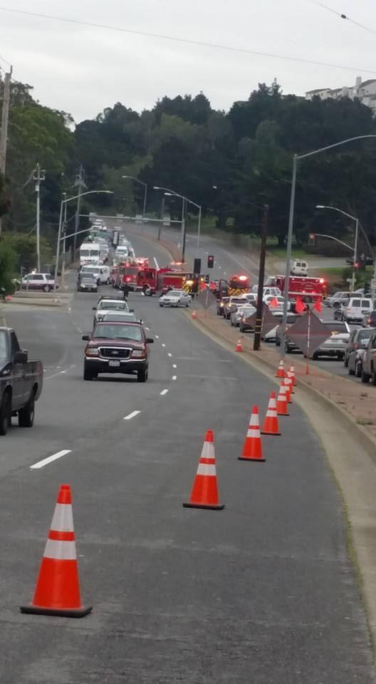 'Car Accident on J.S and Westborough'  warned Anastacio Gonzalez