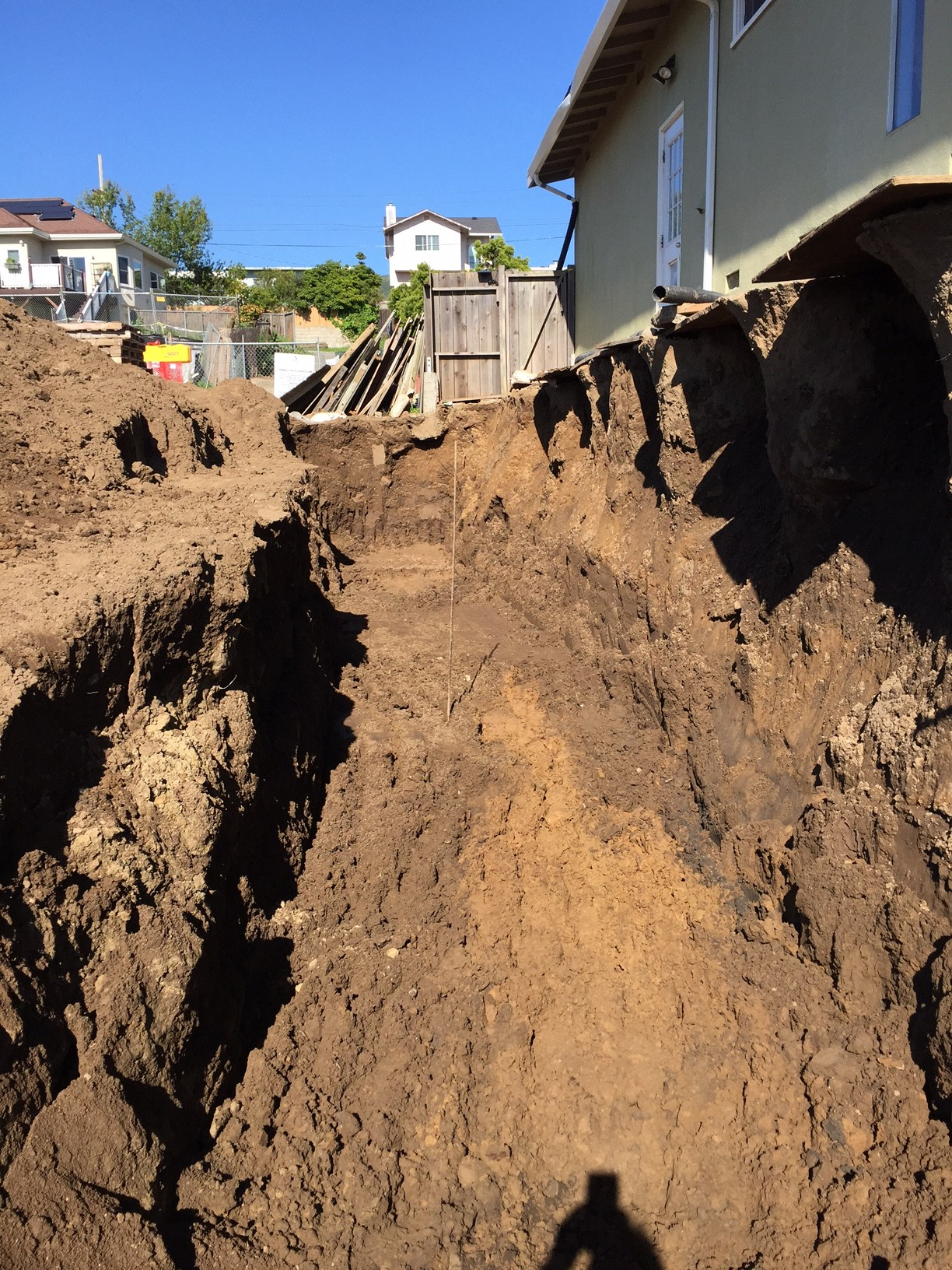 We have to ask - would you feel comfortable returning to your home of 40 years with the side yard still looking like this?